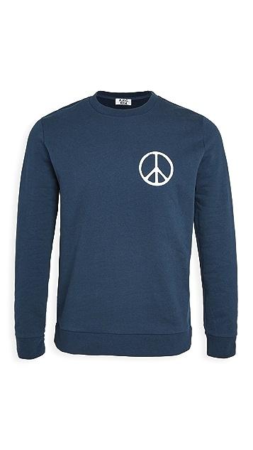 A.P.C. x Rth Peace Sign Crew Neck Sweatshirt