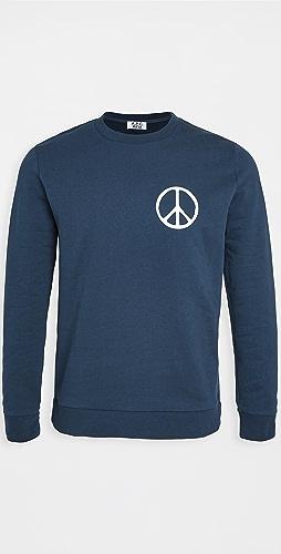 A.P.C. - x Rth Peace Sign Crew Neck Sweatshirt