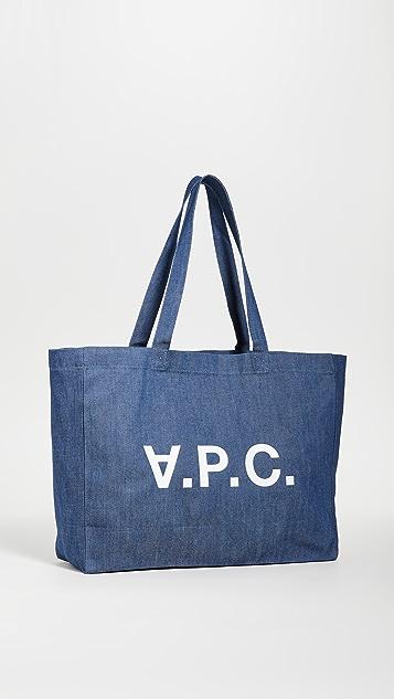 A.P.C. Объемная сумка с короткими ручками Daniela
