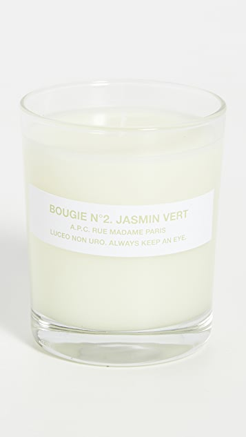 A.P.C. Bougie No. 2 Jasmin Vert Scented Candle
