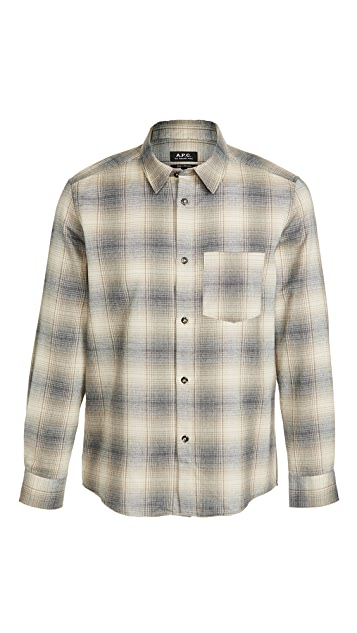 A.P.C. John Checker Shirt