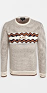 A.P.C. Intarsia Knit Logo Sweater