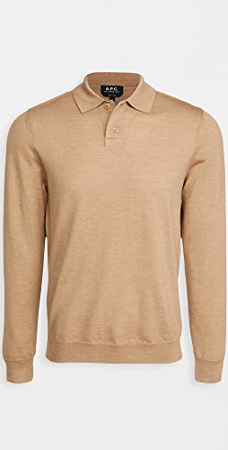 A.P.C. - Jerry Long Sleeve Polo Shirt