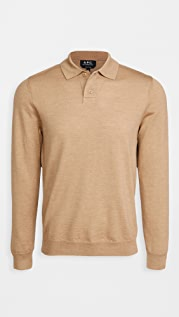 A.P.C. Jerry Long Sleeve Polo Shirt