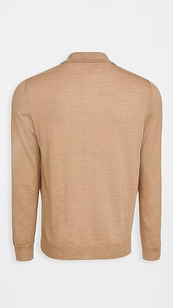 A.P.C. Jerry Long Sleeve Polo Shirt