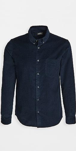 A.P.C. - Serge Corduroy Button Down Shirt