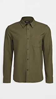 A.P.C. Trek Cotton Linen Shirt