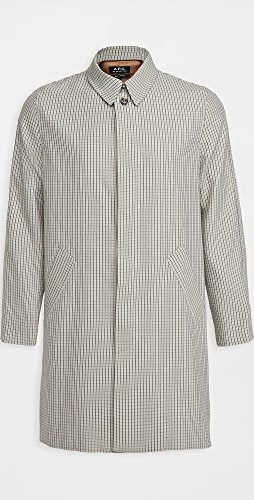 A.P.C. - New England Checked Mac Jacket