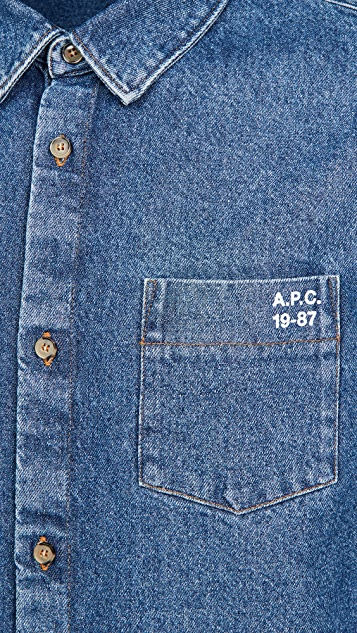 A.P.C. Victor Washed Denim Shirt