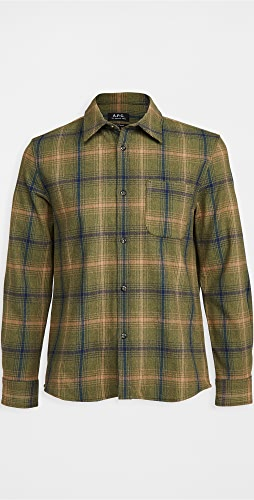 A.P.C. - Trek Wool Flannel Plaid Shirt Jacket