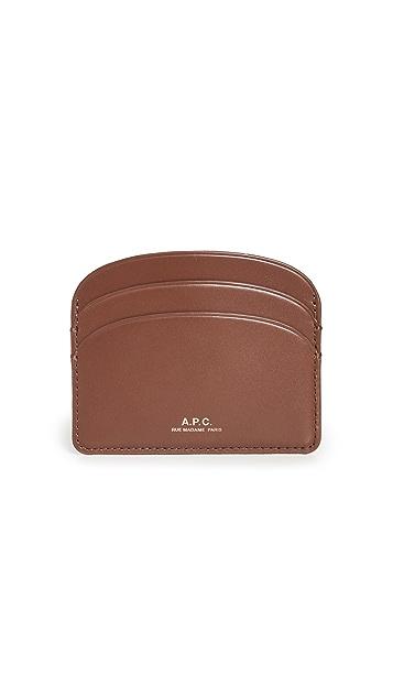A.P.C. Porte Cartes Demi Lune Wallet