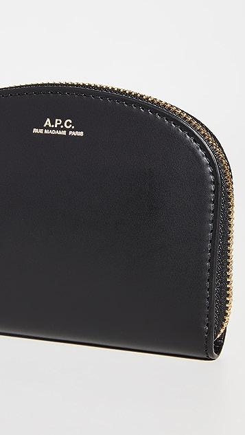 A.P.C. Compact Demi Lune Wallet