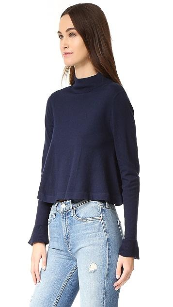 Apiece Apart La Fina Mock Neck Sweater