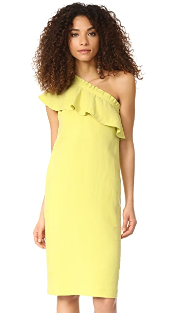 Apiece Apart Reina One Arm Ruffle Dress