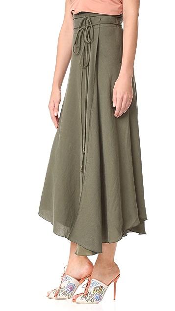 Apiece Apart Rosehip Wrap Skirt