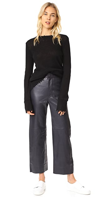 Apiece Apart Leather Monterey Pants