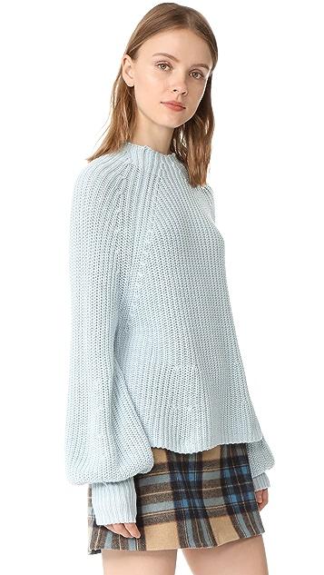 Apiece Apart Sequoia Mock Turtleneck Sweater