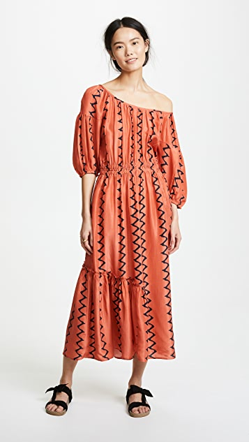 Apiece Apart Camellia One Shoulder Dress