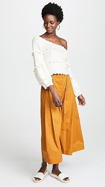 Apiece Apart Hyacinth Pom Pom Sweater