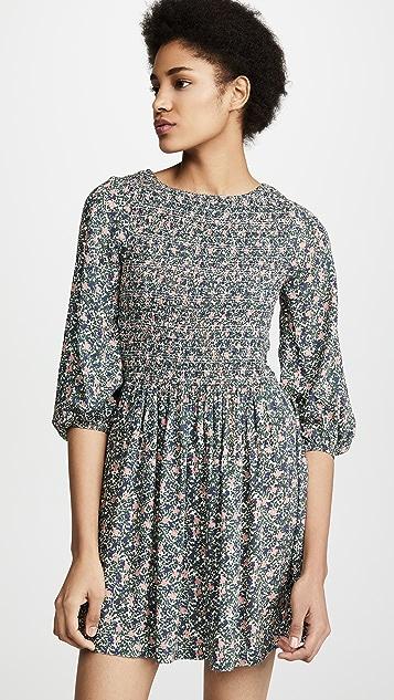 Apiece Apart Мини-платье Olivia со сборками