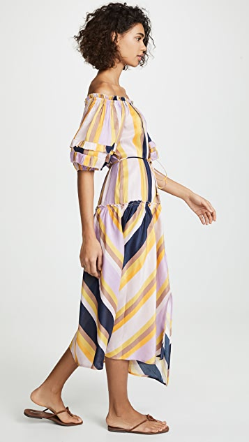 Apiece Apart Sandrine Off Shoulder Dress