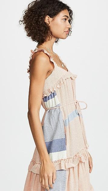 Apiece Apart Платье без рукавов Lypie с оборками