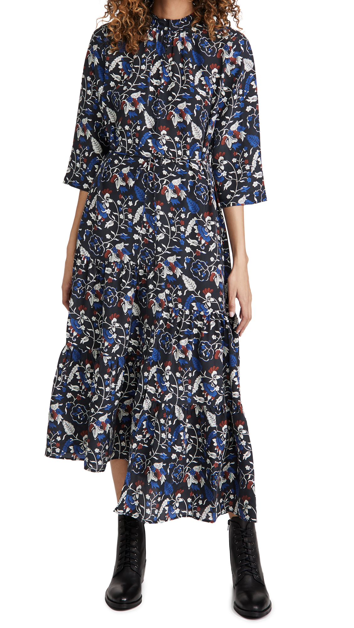 Apiece Apart Shirred Agata Midi Dress