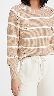 Apiece Apart Celeste Crop Knit Sweater