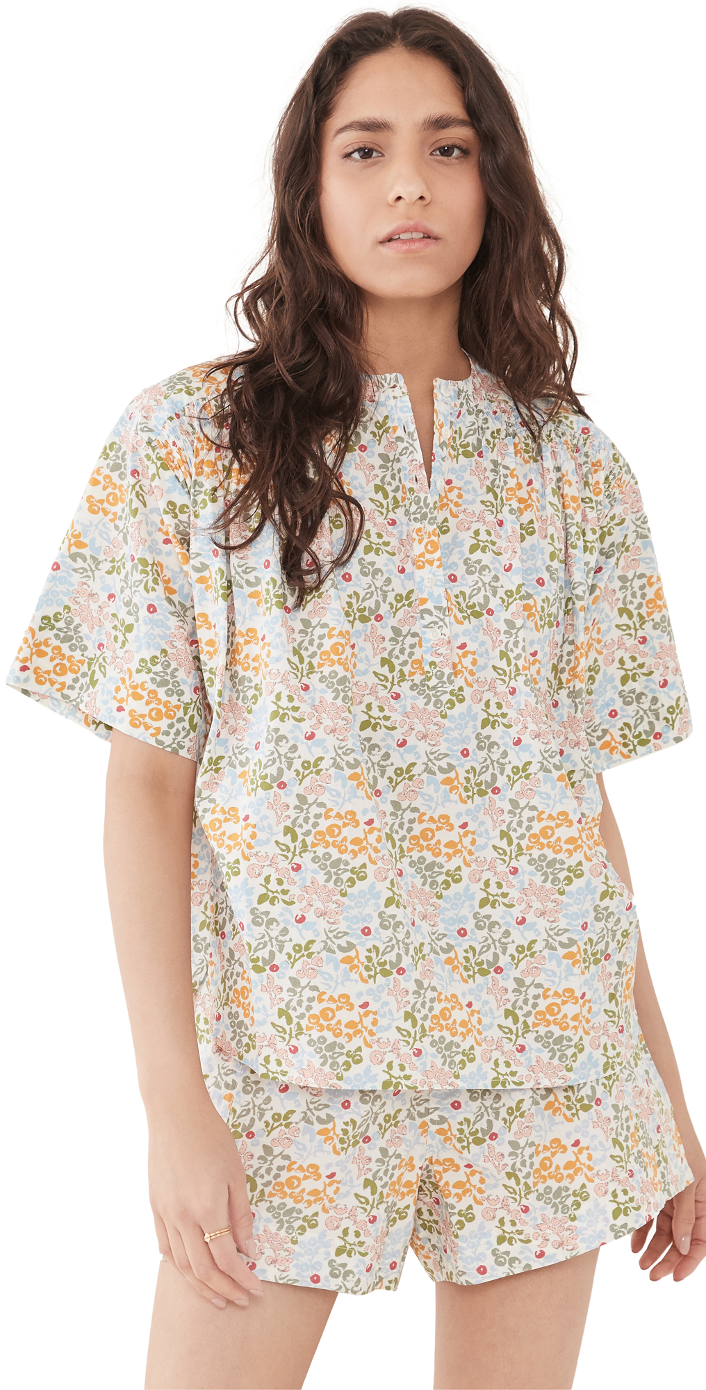 Apiece Apart Cottons SHIRRED MISSION TOP