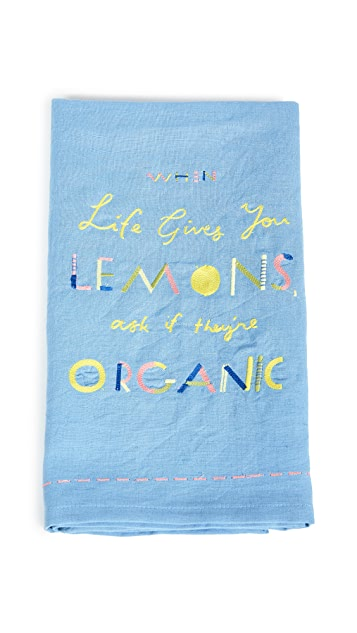 Anthropologie Organic Lemons Dishtowel