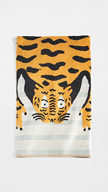 Anthropologie Tigers Beach Towel