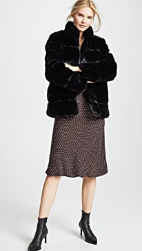 Sarah Quilted Fur Coat