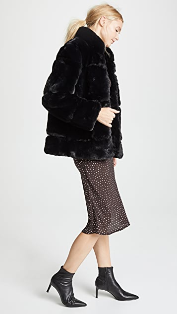 Apparis Sarah Quilted Fur Coat