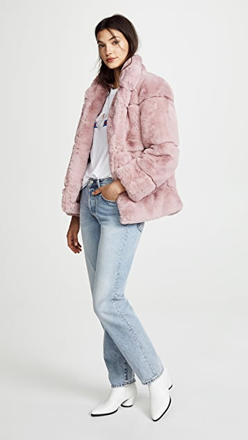 Apparis Sarah Quilted Faux Fur Coat