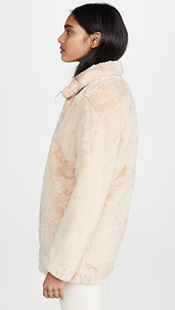 Apparis Розовое пальто из искусственного меха