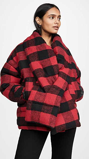 Apparis Alana Coat With Detachable Scarf