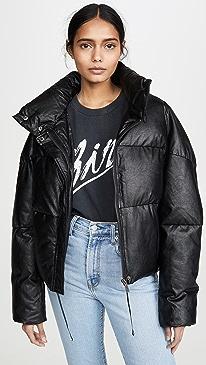Camila Vegan Leather Puffer
