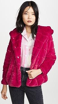Goldie Hooded Faux Fur Coat