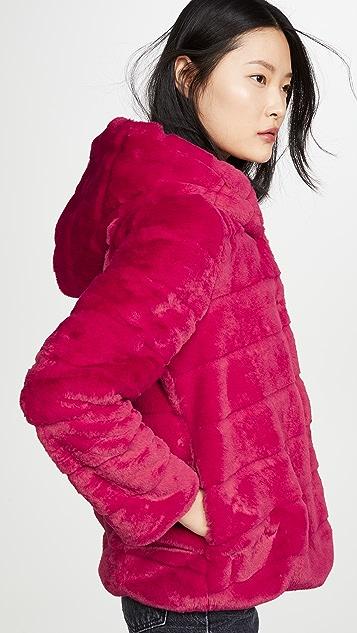 Apparis Пальто из искусственного меха с капюшоном Goldie