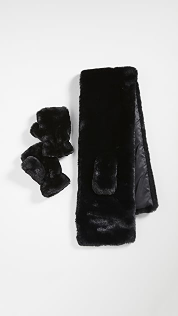 Apparis 围巾和无指手套礼品套装