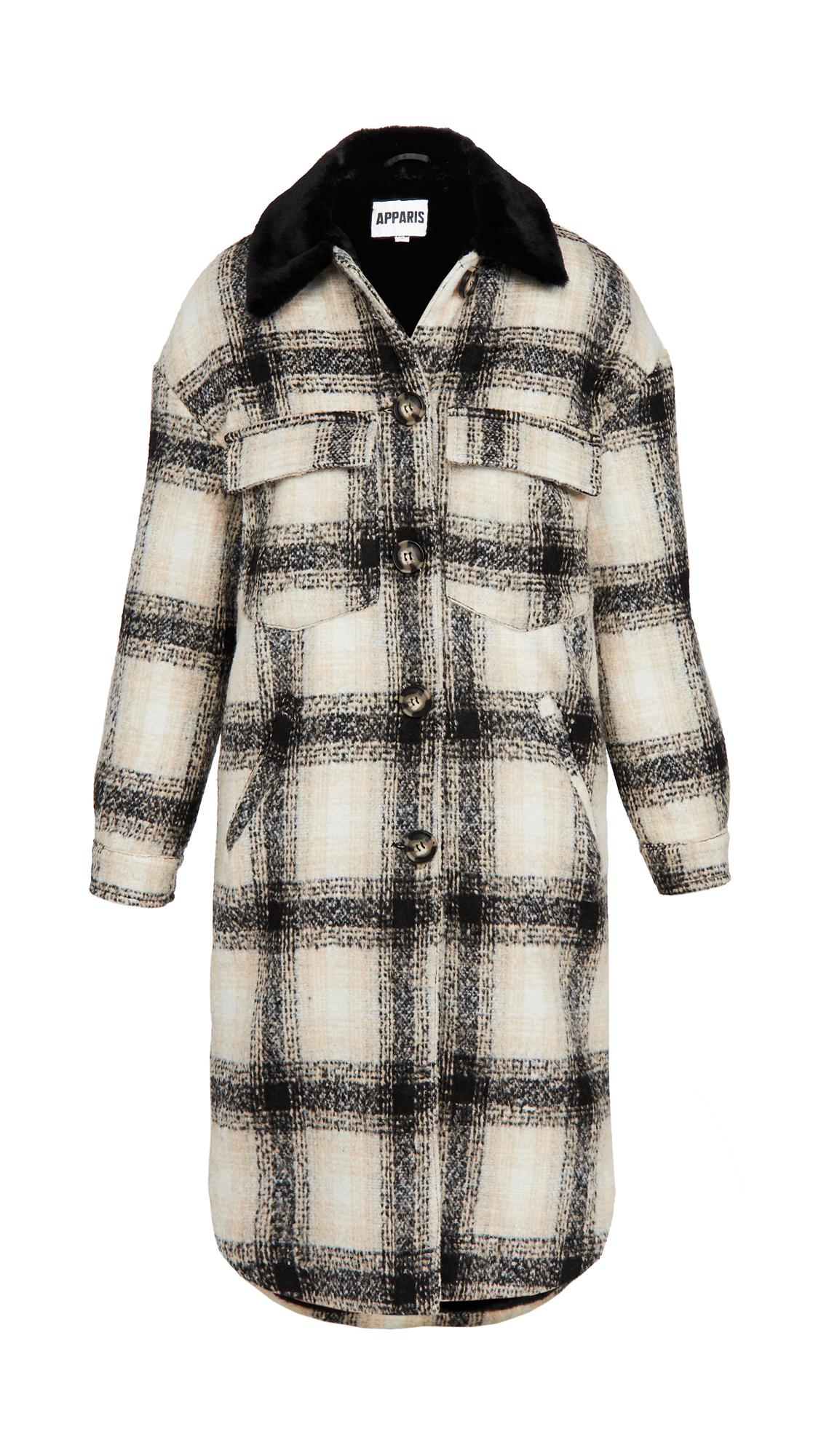 Apparis James Plaid Coat