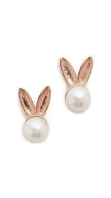 Aamaya By Priyanka Bunny Saltwater Cultured Pearl Earrings