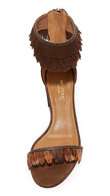 Aquazzura Feather Sandals