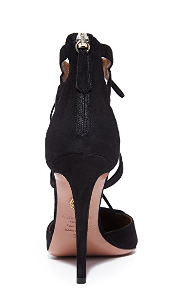 Aquazzura Belgravia Lace Up Heels