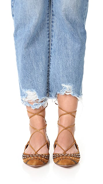 Aquazzura Christy Folk Flats