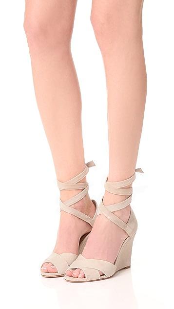Aquazzura Tarzan 85 Wedge Sandals