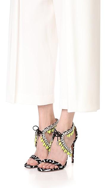 Aquazzura Milla Embellished Sandals
