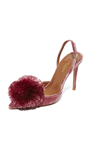 07d1bc7710 Aquazzura Powder Puff 105 Sling Pumps | SHOPBOP