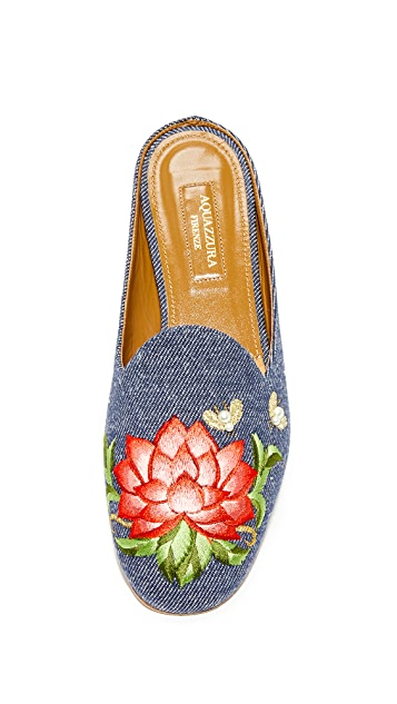 Aquazzura Lotus Slippers