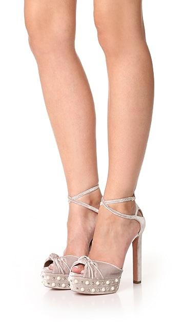 Aquazzura Harlow Plateau Sandals